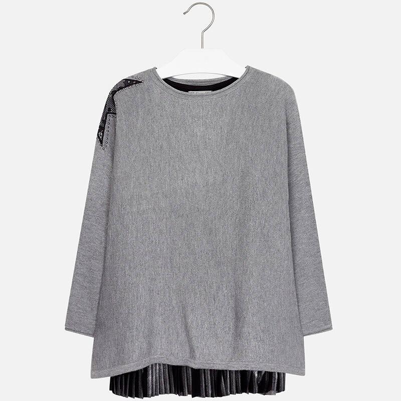 9790d33079 MAYORAL Sukienka plisowana z trykotem