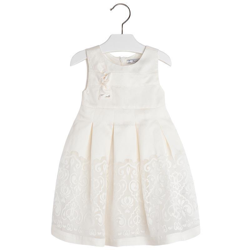 e90b8bacfc MAYORAL Sukienka devore ecru