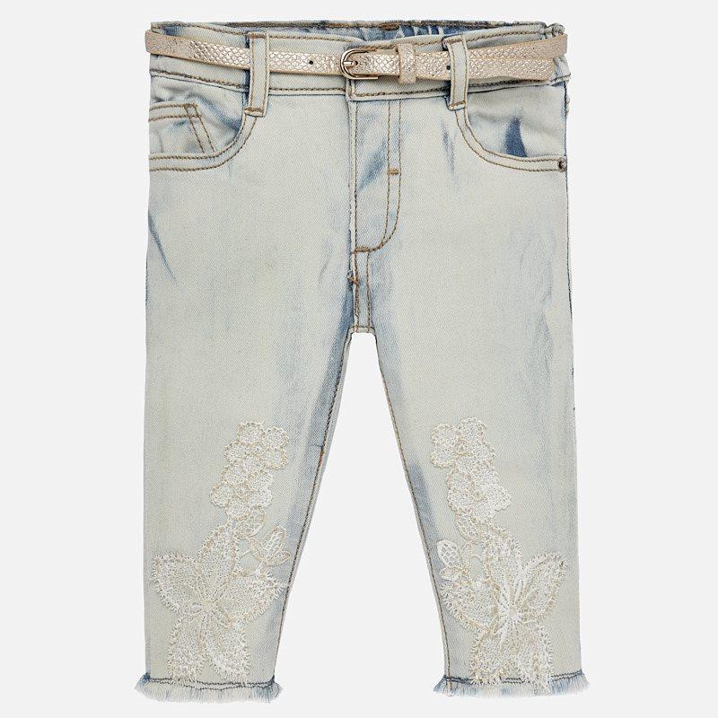MAYORAL Długie spodnie z haftem